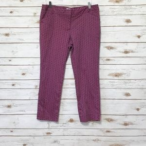 Laundry pink & navy cropped pants size 12